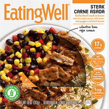 the Dr. Gourmet tasting panel reviews the Steak Carne Asada from EatingWell