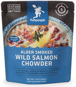 Alder Smoked Wild Salmon Chowder from Fishpeople Seafood reviewed by Dr. Gourmet