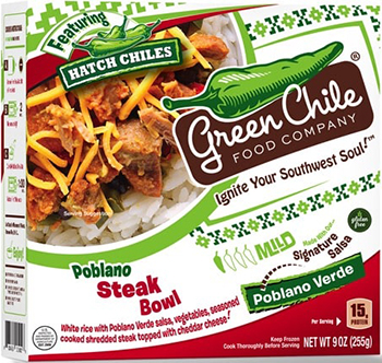 Dr. Gourmet reviews the Poblano Steak Burrito Bowl from the Green Chile Food Company