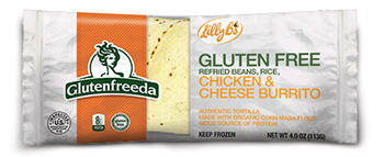 the Dr. Gourmet tasting panel reviews the Chicken and Cheese Burrito from Glutenfreeda