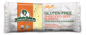 Dr. Gourmet reviews the Shredded Beef Burrito from Glutenfreeda