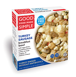 Dr. Gourmet reviews Turkey Sausage Breakfast Bowl from Good Food Made Simple