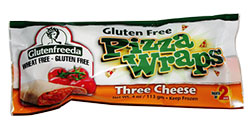 Glutenfreeda Three Cheese Pizza Wrap reviewed by Dr. Gourmet