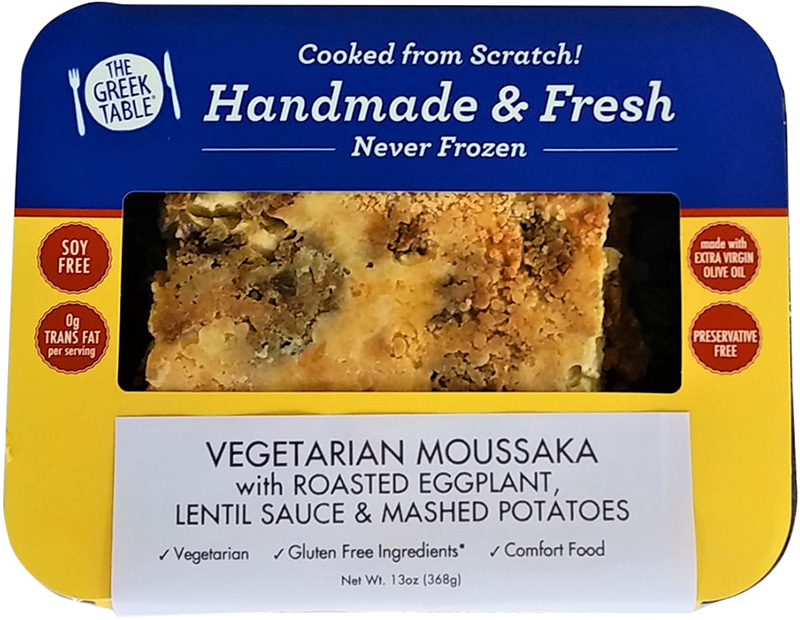 Dr. Gourmet reviews the Vegetarian Moussaka from The Greek Table