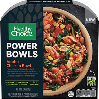Dr. Gourmet reviews the Adobo Chicken Bowl from Healthy Choice's Power Bowls line