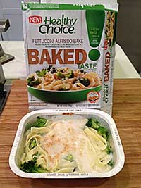Healthy Choice Baked Fettuccini Alfredo Review