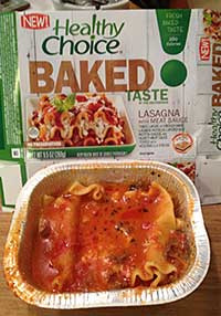 Healthy Choice Fresh Baked Taste: Lasagna with Meat Sauce Review