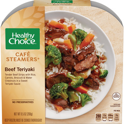 Dr. Gourmet reviews the Beef Teriyaki Cafe Steamer from Healthy Choice