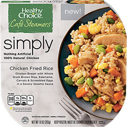 Dr. Gourmet reviews Chicken Fried Rice from Healthy Choice's Simply Cafe Steamers
