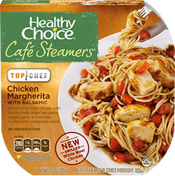 Dr. Gourmet reviews the Chicken Margherita from Healthy Choice's Cafe Steamers line