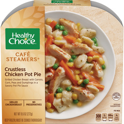the Dr. Gourmet tasting panel reviews the Crustless Chicken Pot Pie from Healthy Choice
