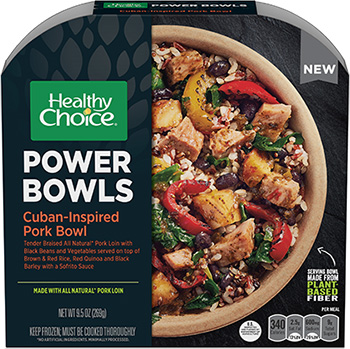 Dr. Gourmet reviews the Cuban-Inspired Pork Power Bowl from Healthy Choice
