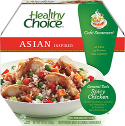 Review by Dr. Gourmet of Healthy Choice's General Tso's Spicy Chicken