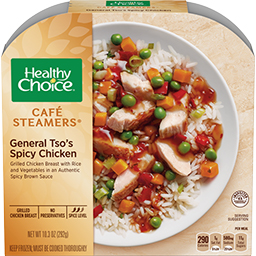 the Dr. Gourmet tasting panel reviews the General Tso's Spicy Chicken from Healthy Choice