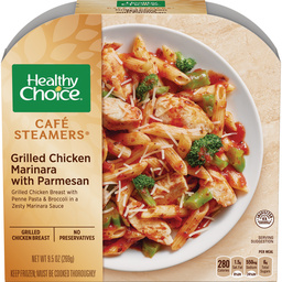 Dr. Gourmet revisits the Grilled Chicken Marinara with Parmesan from Healthy Choice's Cafe Steamers line