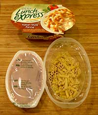 Healthy Choice Lunch Express Rotini & Zesty Marinara Review