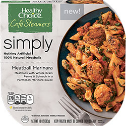 Dr. Gourmet reviews Meatball Marinara from Healthy Choice's Simply Cafe Steamers