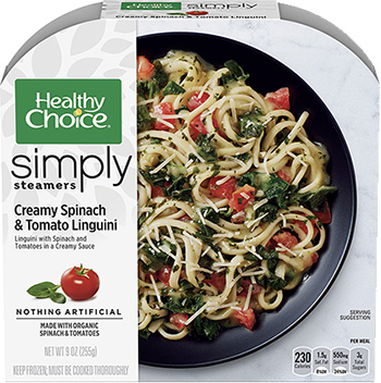 Creamy Spinach & Tomato Linguine from Healthy Choicen reviewed by the Dr. Gourmet tasting panel