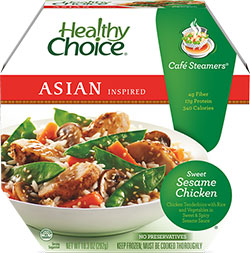 Review by Dr. Gourmet of Healthy Choice's Sweet Sesame Chicken