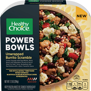 the Dr. Gourmet tasting panel reviews the Unwrapped Burrito Scramble Power Bowl from Healthy Choice