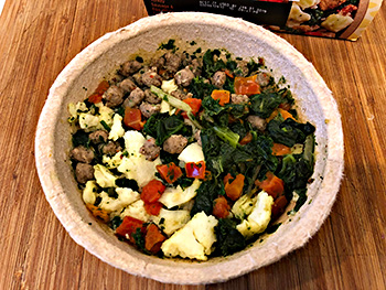 Dr. Gourmet photographs the Turkey Sausages & Egg White Scramble Power Bowl from Healthy Choice