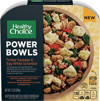 the Dr. Gourmet tasting panel reviews the Turkey Sausage & Egg White Scramble Power Bowl from Healthy Choice