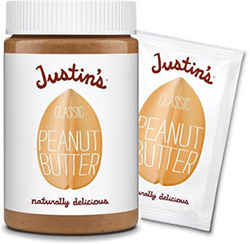Dr. Gourmet reviews Justin's classic peanut butter, available in convenient packets