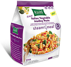 Dr. Gourmet Reviews Kashi Steam Meals Italian Vegetable Medley Pasta