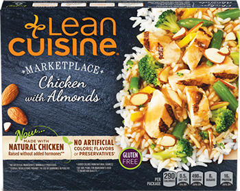 Dr. Gourmet reviews Chicken with Almonds from Lean Cuisine's Marketplace line.