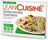 Lean Cuisine Chicken with Basil Cream Sauce