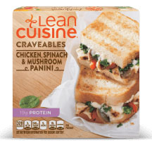 Dr. Gourmet Reviews the Chicken, Spinach & Mushroom Panini from Lean Cuisine