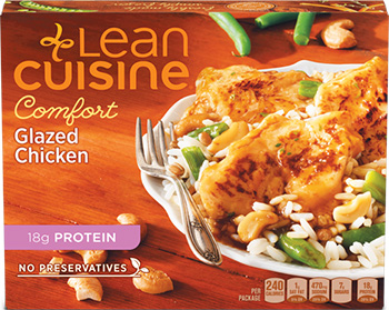 Dr. Gourmet reviews the Glazed Chicken from Lean Cuisine's Comfort line