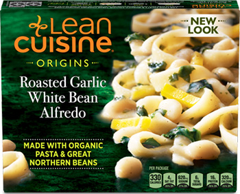 The Dr. Gourmet testing panel reviews the Roasted Garlic White Bean Alfredo from Lean Cuisine, a limited edition frozen meal