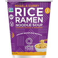 Dr. Gourmet reviews Masala Curry flavored Rice Ramen Noodle Soup from Lotus Foods