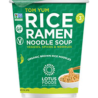 Dr. Gourmet reviews Tom Yum flavored Rice Ramen Noodle Soup from Lotus Foods