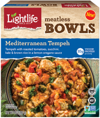 Dr. Gourmet reviews the Mediterranean Tempeh Meatless Bowl from Lightlife