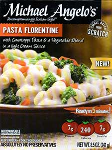 Michael Angelo's Pasta Florentine Review by Dr. Gourmet