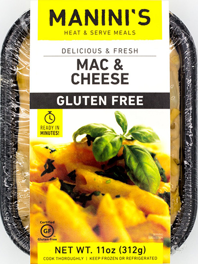 Dr. Gourmet reviews Mac & Cheese from Manini's Gluten Free