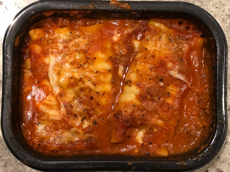 Dr. Gourmet reviews Manini's Lasagna Roll-ups, after cooking