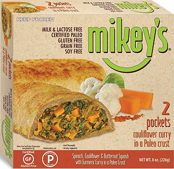 Mikey's Cauliflower Curry Pockets reviewed by Dr. Gourmet