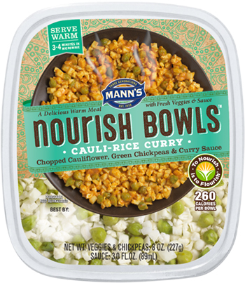 the Dr. Gourmet tasting panel reviews the Cauli-Rice Curry from Mann's Nourish Bowls
