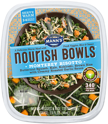 the Dr. Gourmet tasting panel reviews the Monterey Risotto from Mann's Nourish Bowls