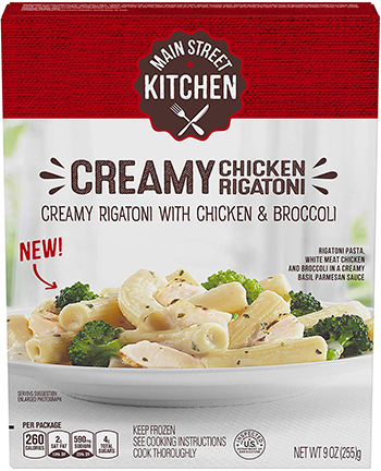 The Dr. Gourmet tasting panel reviews the Creamy Chicken Rigatoni from Main Street Kitchen