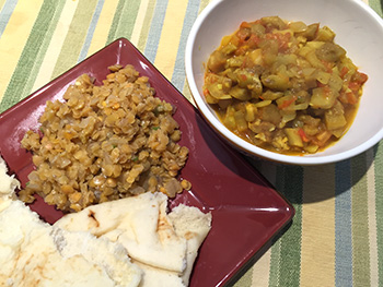 Red Lentil Daal with roasted vegetables from Plated food delivery service, reviewed by Dr. Gourmet