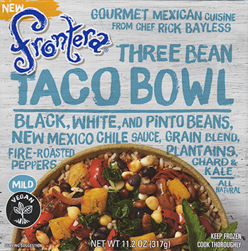 the Dr. Gourmet tasting panel reviews the Three Bean Taco Bowl from Rick Bayless' Frontera Foods