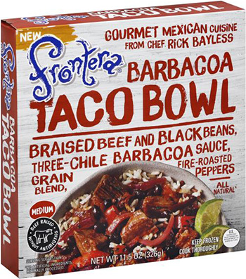 the Dr. Gourmet tasting panel reviews the Barbacoa Taco Bowl from Rick Bayless' Frontera Foods