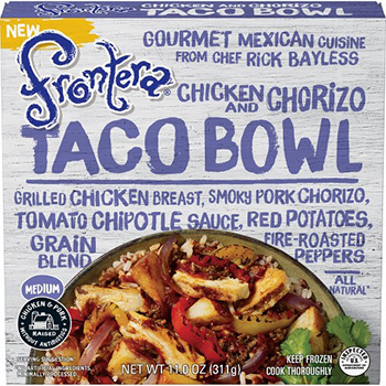 Dr. Gourmet reviews the Chicken and Chorizo Taco Bowl from Frontera Foods by Rick Bayless