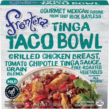 Dr. Gourmet's tasting panel reviews the Tinga Taco Bowl from Rick Bayless' Frontera Foods