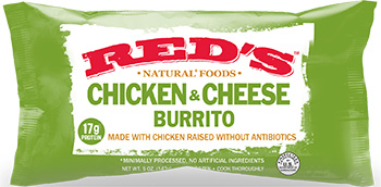 Dr. Gourmet reviews the Chicken & Cheese Burrito from Red's Natural Foods