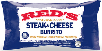 Dr. Gourmet reviews the Steak & Cheese Burrito from Red's Natual Foods